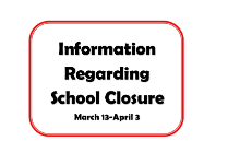 School Building Closure/Home Learning Information and Resources