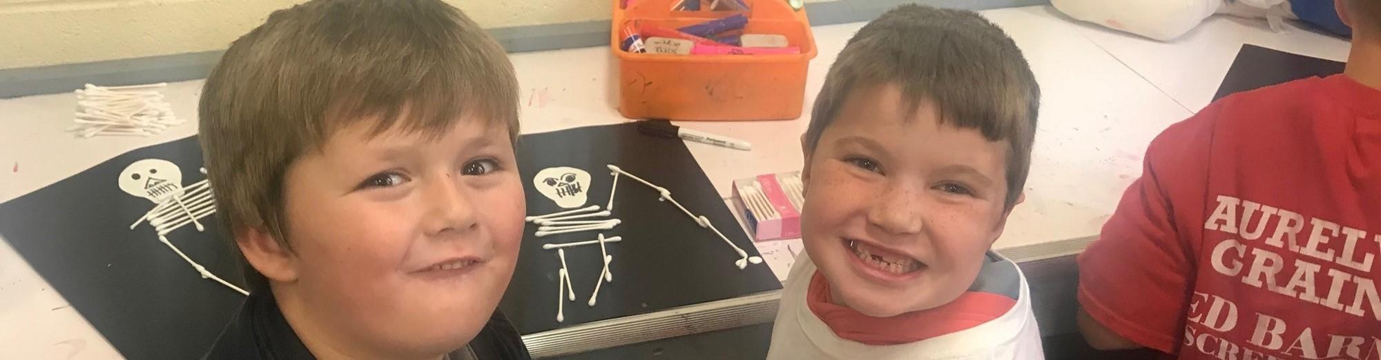 Kindergarten Students Enjoying Art
