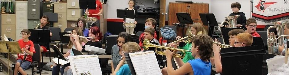McDowell band rehearsal