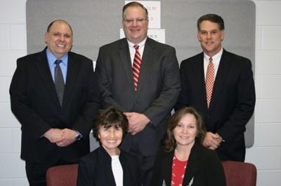 Front Row: Deborah Shaw (President), Kim Martin Back Row: Michael Agosta, Scott Allen, Michael Linton (Vice President)