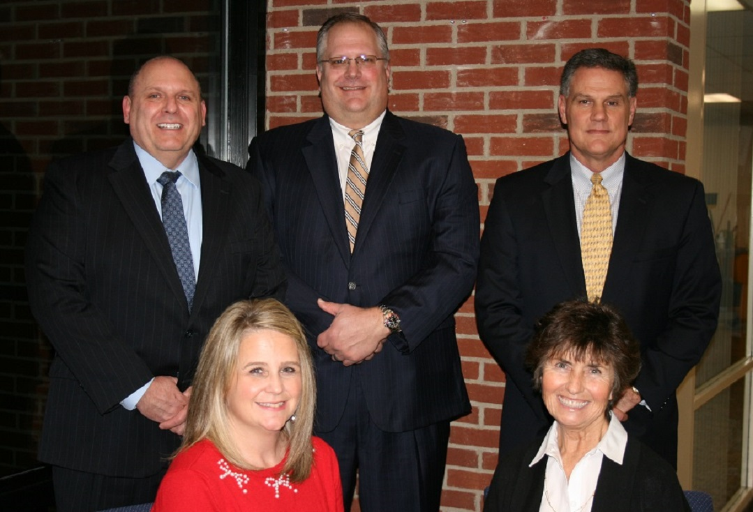 Front Row: Heidi White, Deborah Shaw (President) Back Row: Michael Agosta, Scott Allen, Michael Linton (Vice President)